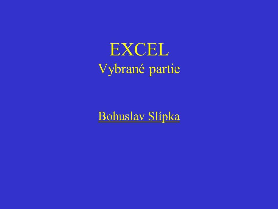 EXCEL Vybrané partie Bohuslav Slípka