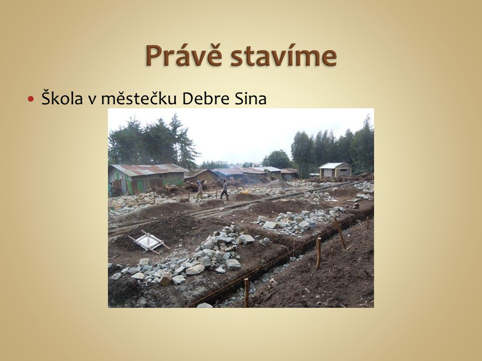 Škola v městečku Debre Sina