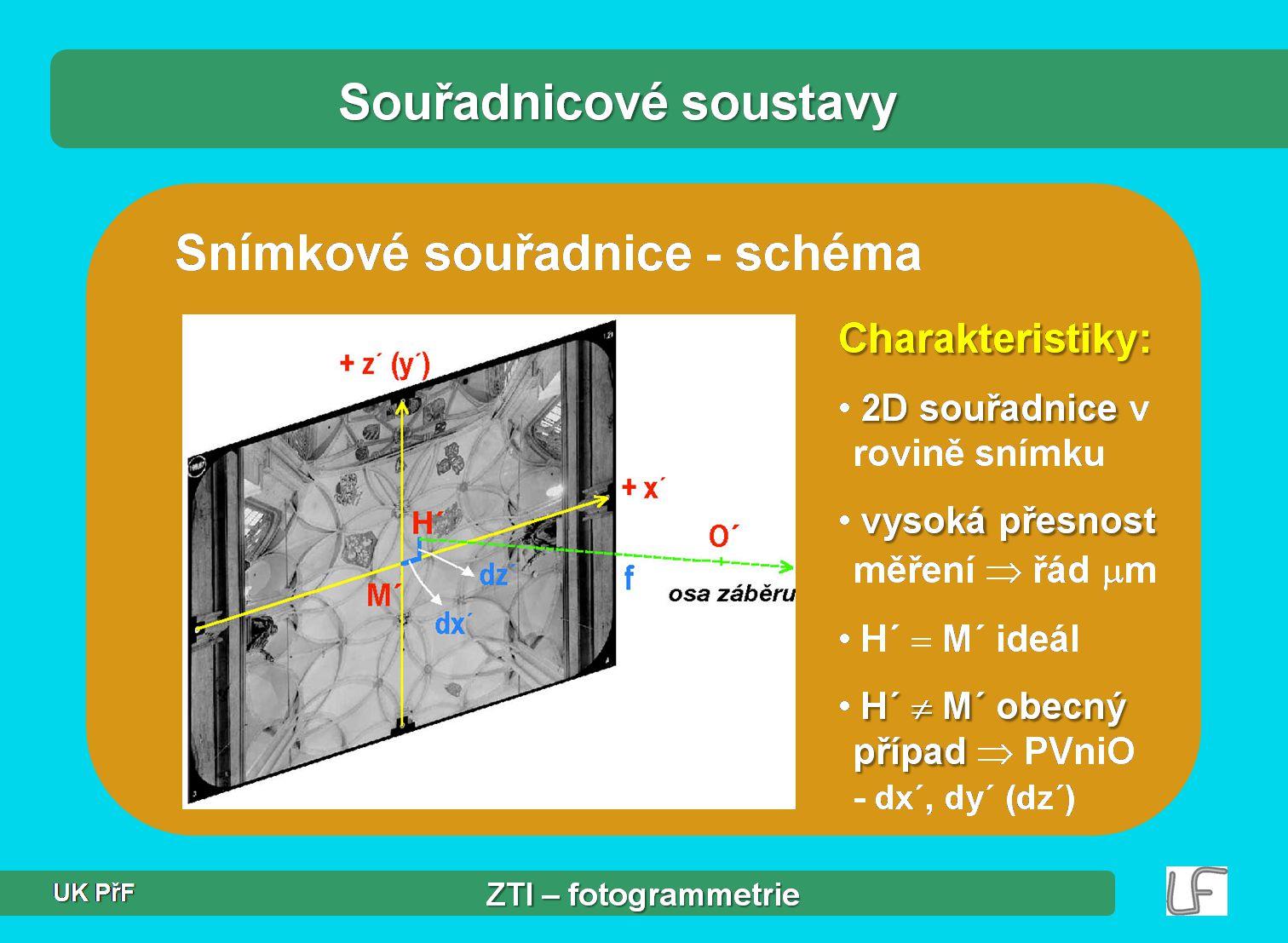 Úvod do fotogrammetrie J. Hodač – ZTI 8