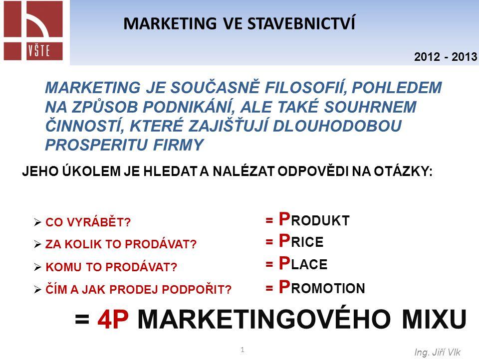 2 MARKETING VE STAVEBNICTVÍ Ing.