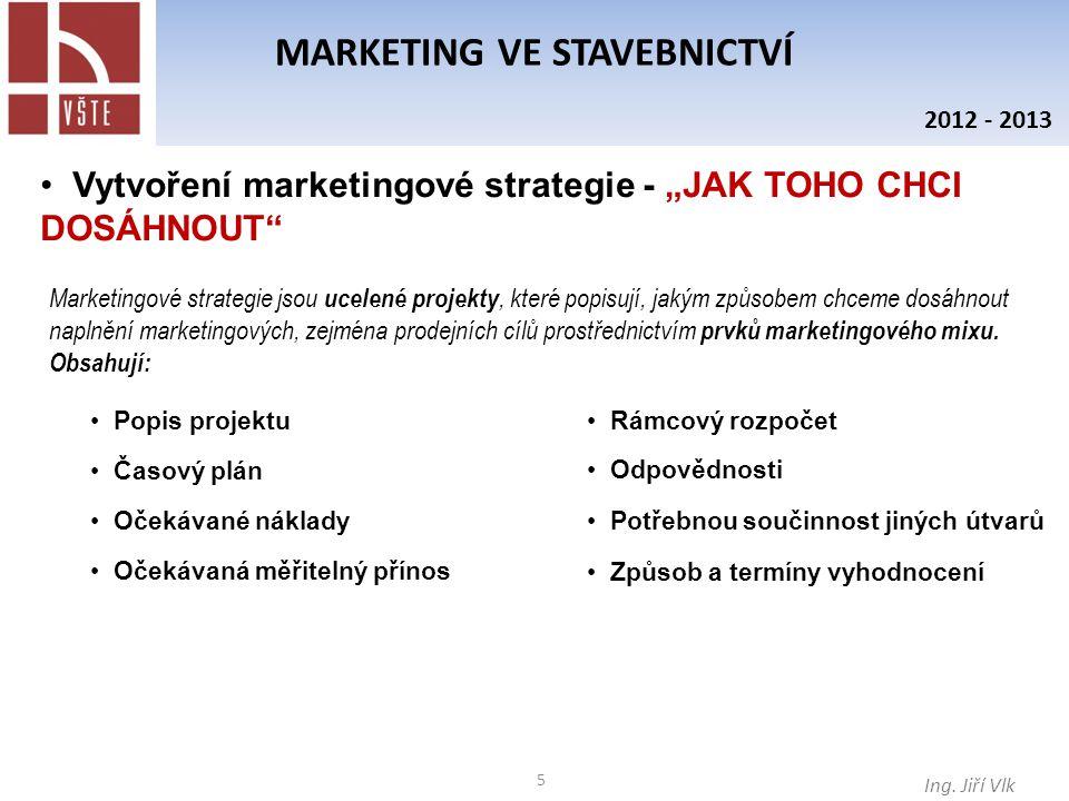 6 MARKETING VE STAVEBNICTVÍ Ing.