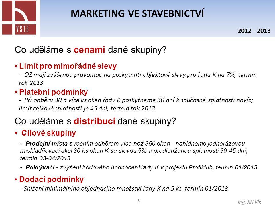 10 MARKETING VE STAVEBNICTVÍ Ing.