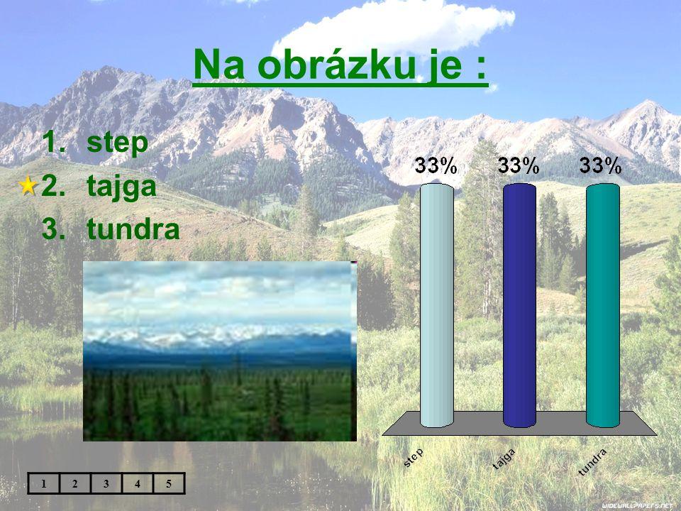Na obrázku je : 1.step 2.tajga 3.tundra 12345