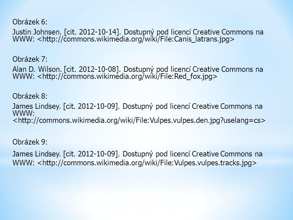 Obrázek 6: Justin Johnsen. [cit. 2012-10-14]. Dostupný pod licencí Creative Commons na WWW: Obrázek 7: Alan D. Wilson. [cit. 2012-10-08]. Dostupný pod