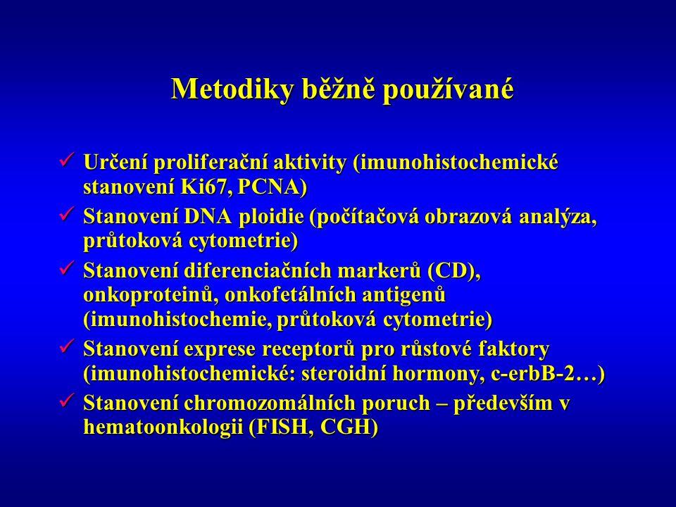 Metodiky běžně používané Metodiky běžně používané Určení proliferační aktivity (imunohistochemické stanovení Ki67, PCNA) Určení proliferační aktivity