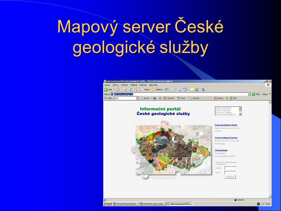 Mapový server České geologické služby