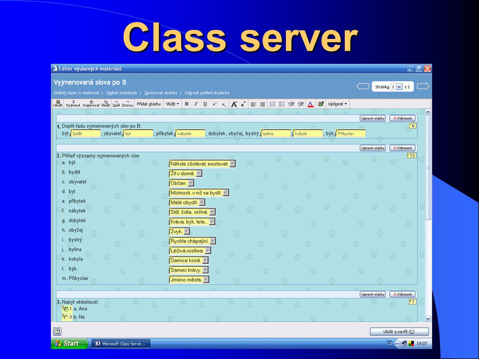 Class server