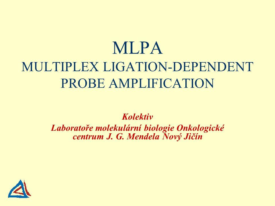 MLPA MULTIPLEX LIGATION-DEPENDENT PROBE AMPLIFICATION Kolektiv Laboratoře molekulární biologie Onkologické centrum J.