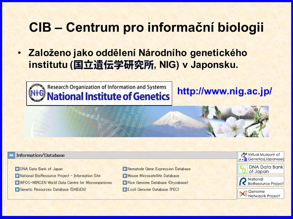 Primární databáze NA EMBL - Evropský institut pro bioinformatiku GenBank - Národní centrum pro biotechnologické informace DDBJ - Národní genetický institut (NIG)
