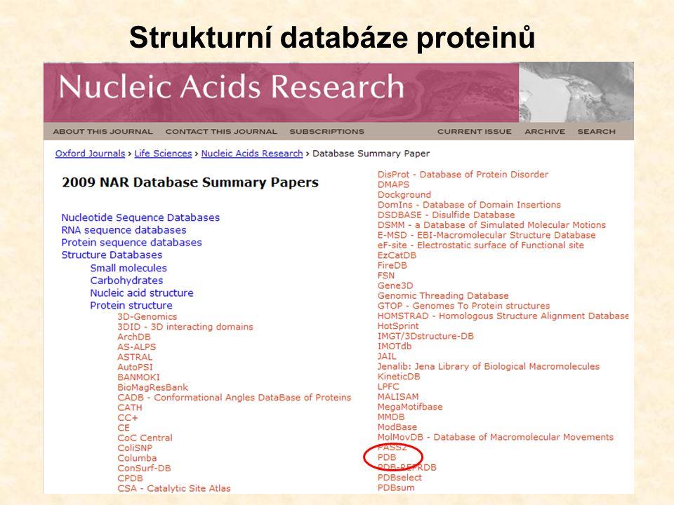 Strukturní databáze proteinů