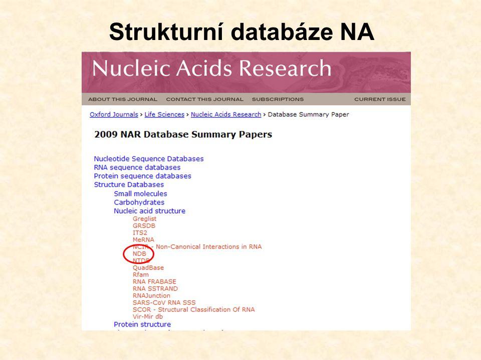 Strukturní databáze NA