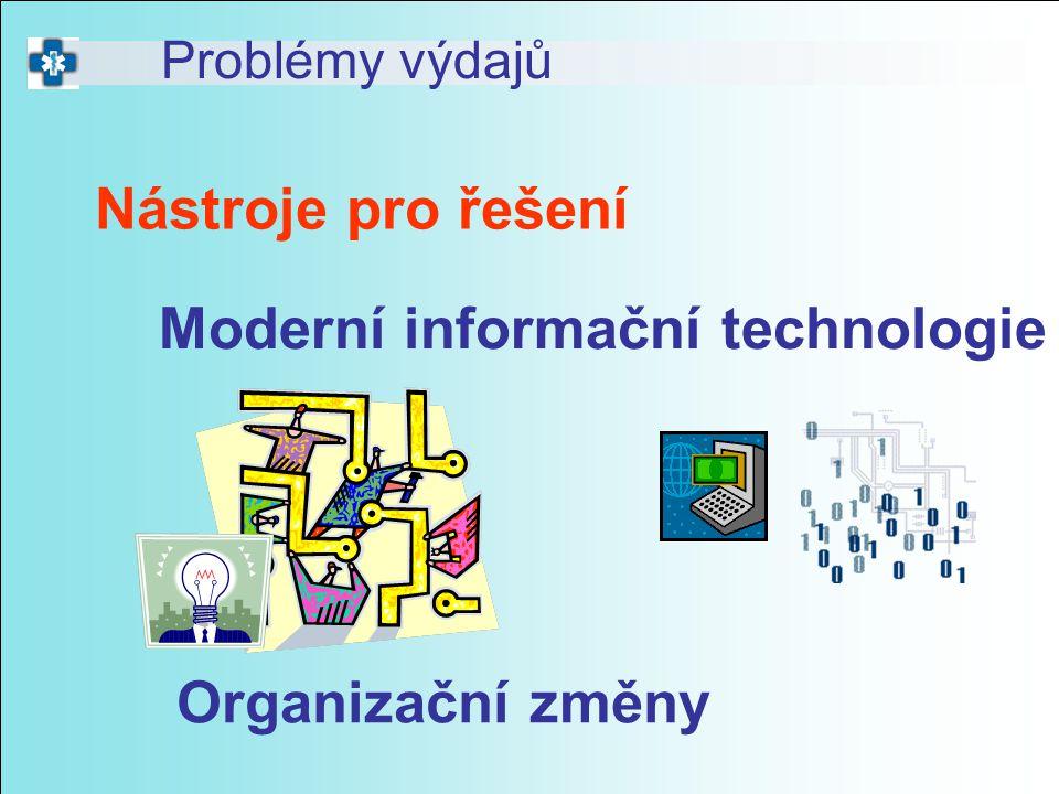 Nástroje pro řešení Problémy výdajů Moderní informační technologie Organizační změny