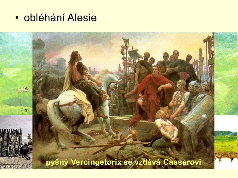 obléhání Alesie pyšný Vercingetorix se vzdává Caesarovi