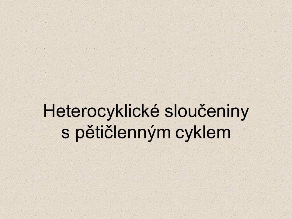 Heterocyklické sloučeniny s pětičlenným cyklem