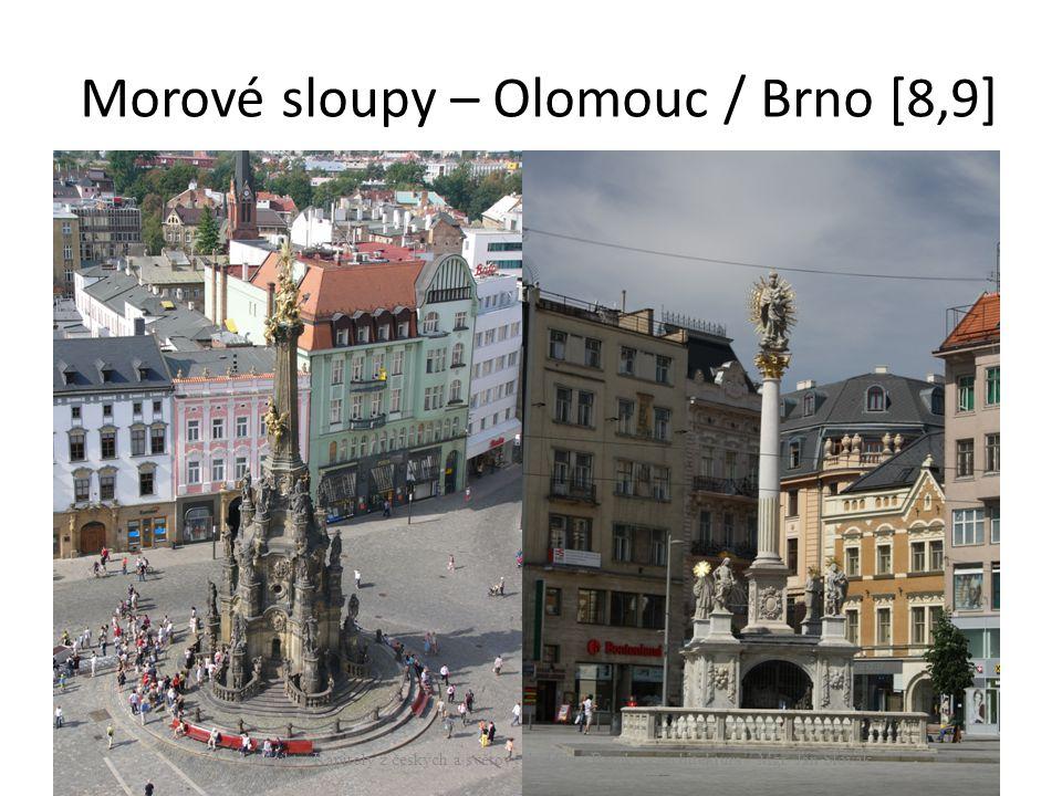 Morové sloupy – Olomouc / Brno [8,9] ZA, 1. ročník / Kapitoly z českých a světových dějin, Baroko - architektura / Mgr. Jan Slovák