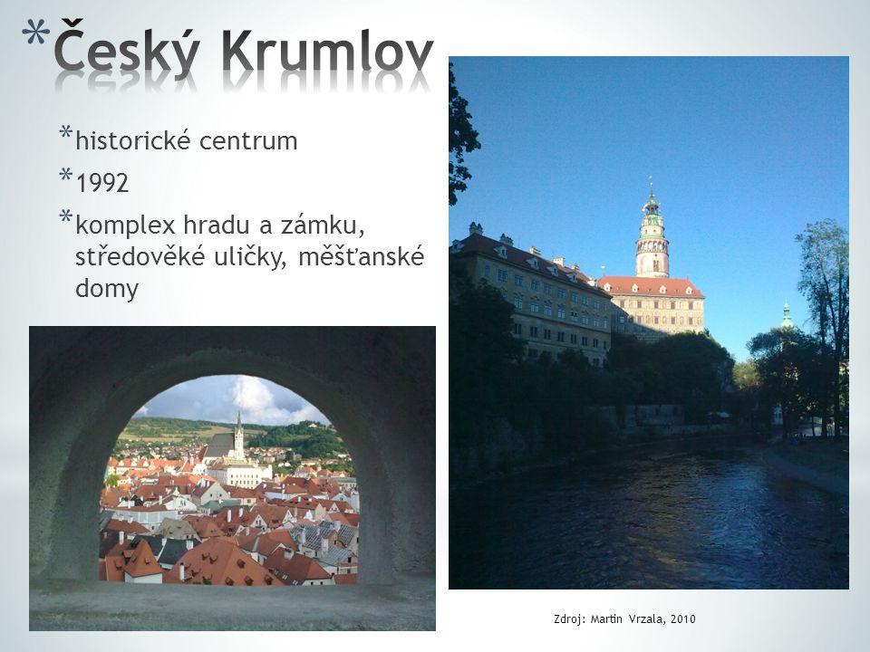 * historické centrum * 1992 * komplex hradu a zámku, středověké uličky, měšťanské domy Zdroj: Martin Vrzala, 2010