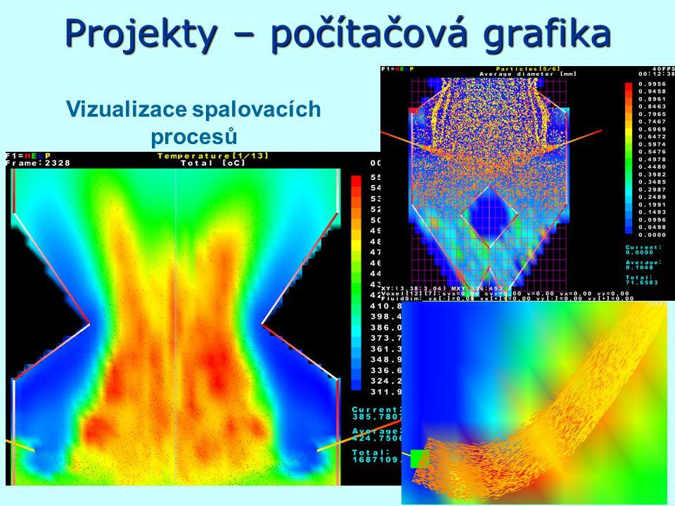 Projekty – počítačová grafika Vizualizace spalovacích procesů