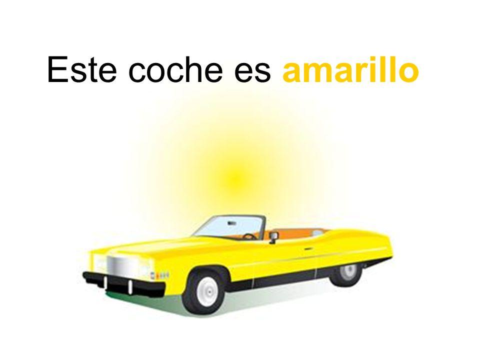 Este coche es amarillo