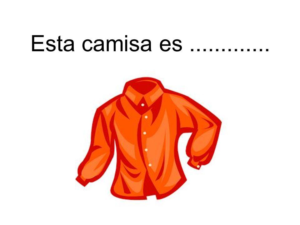 Esta camisa es naranja