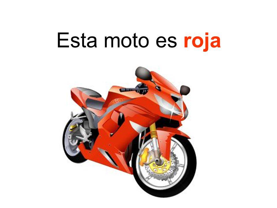 Esta moto es roja