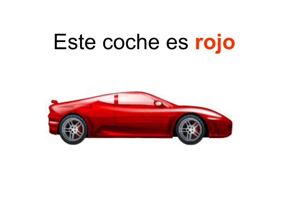 Este coche es rojo
