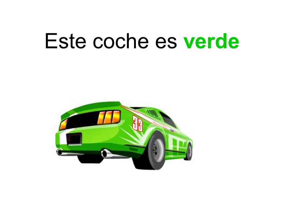 Este coche es verde