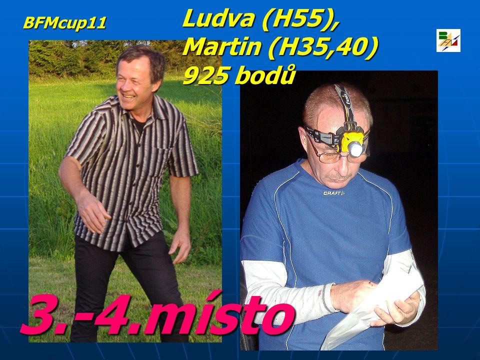 3.-4.místo Ludva (H55), Martin (H35,40) 925 bodů BFMcup11