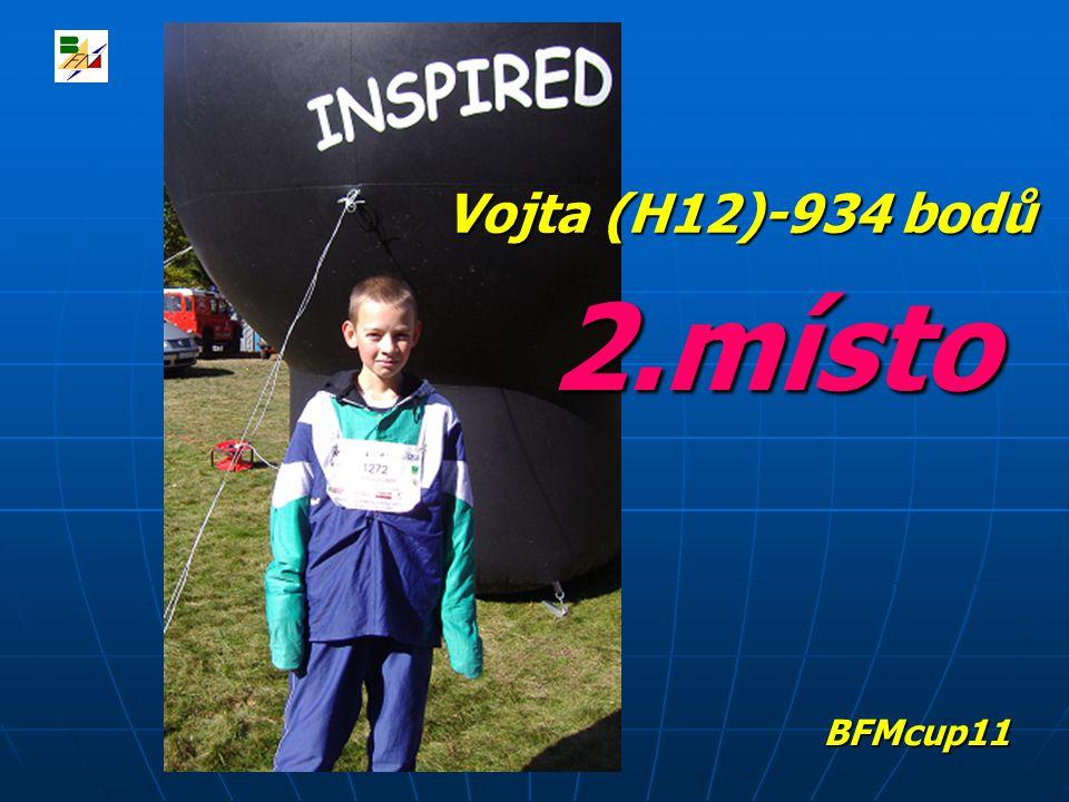 2.místo Vojta (H12)-934 bodů BFMcup11