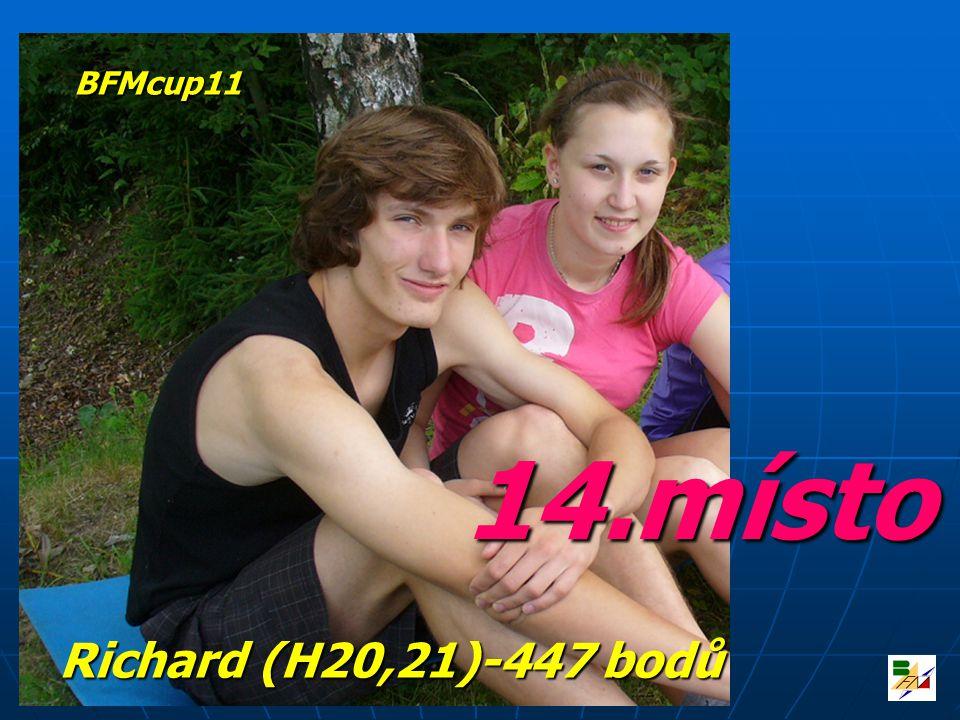 BFMcup11 14.místo Richard (H20,21)-447 bodů