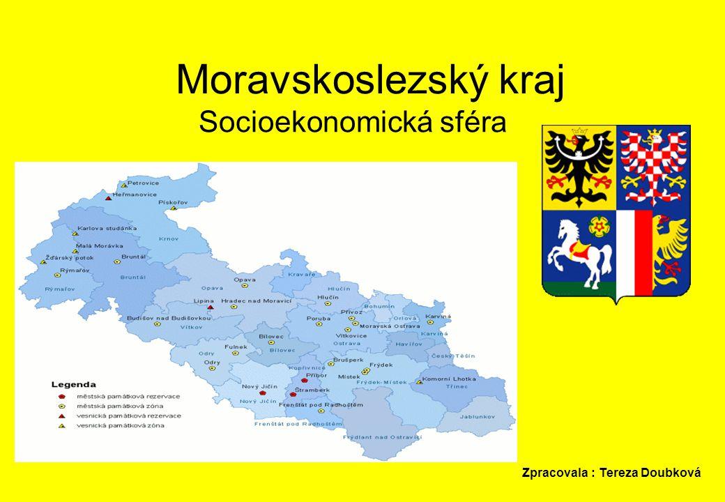 Moravskoslezský kraj Socioekonomická sféra Zpracovala : Tereza Doubková