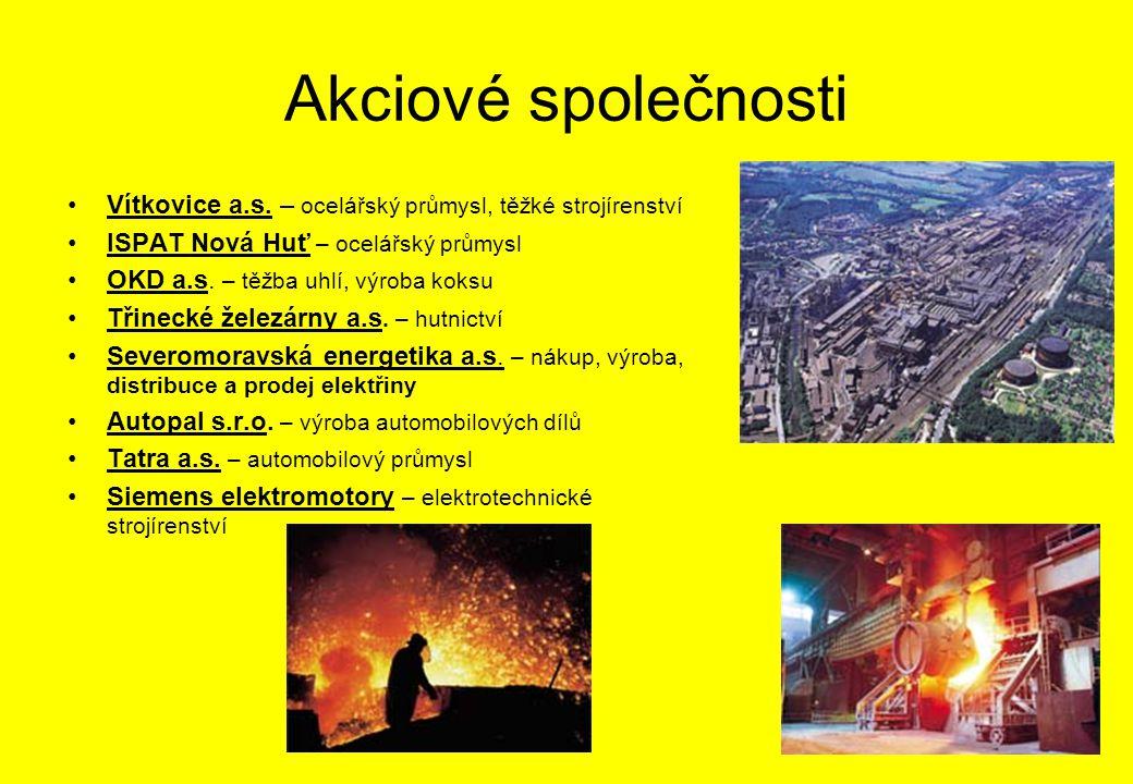 Akciové společnosti Vítkovice a.s.