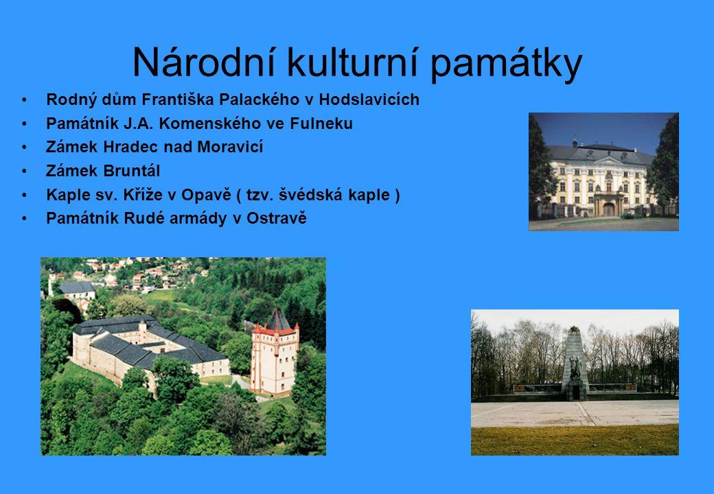 Národní kulturní památky Rodný dům Františka Palackého v Hodslavicích Památník J.A.