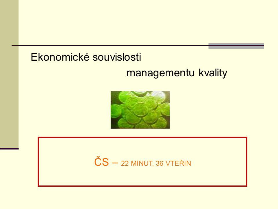 Ekonomické souvislosti managementu kvality ČS – 22 MINUT, 36 VTEŘIN