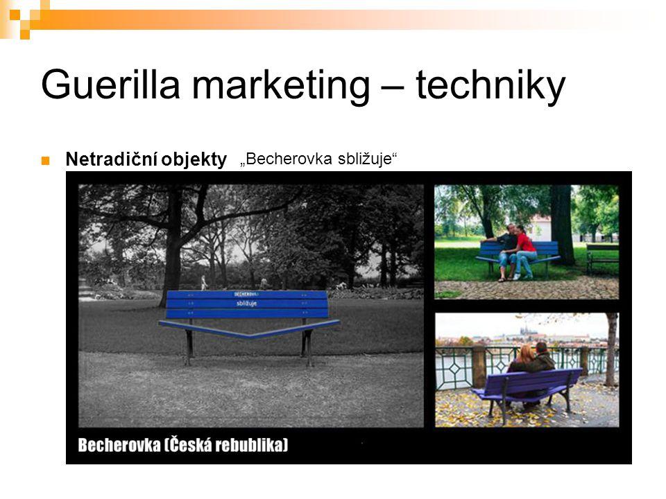 """Guerilla marketing – techniky Netradiční objekty """"Becherovka sbližuje"""""""