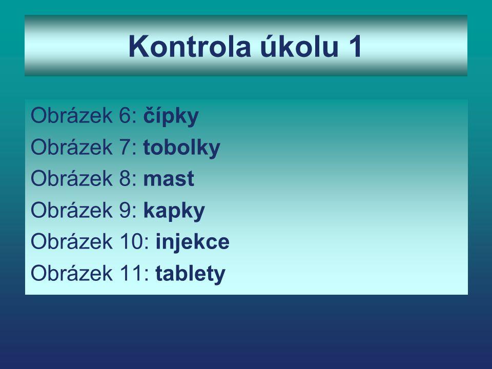 Některé kategorie léků Otorinolaryngologikum (ORL) Léčba rýmy, zánětu nosních dutin Antidiaroikum Léčba průjmu Antibiotika Léčba bakteriálních infekcí (angína) Analgetikum, Antipyretikum Zmírnění bolesti, snížení tělesné teploty Antitusikum proti kašli 12 13