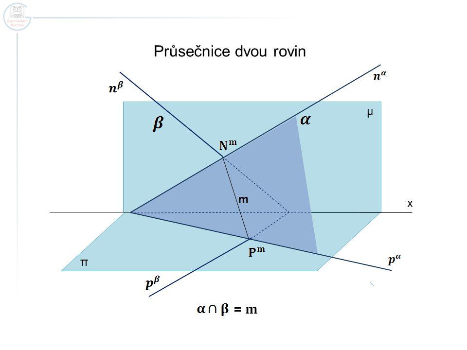 Zapamatujte.Průsečnicí dvou rovin je přímka.