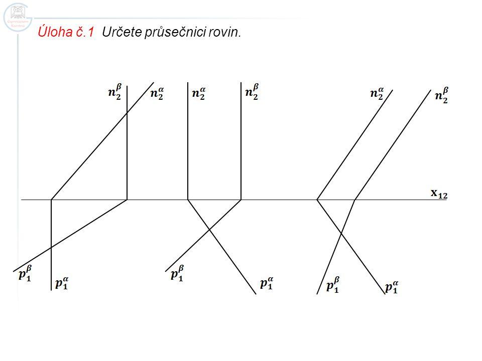 Úloha č.1 Určete průsečnici rovin.