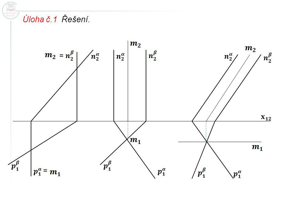 Úloha č.2 Určete průsečnici rovin.