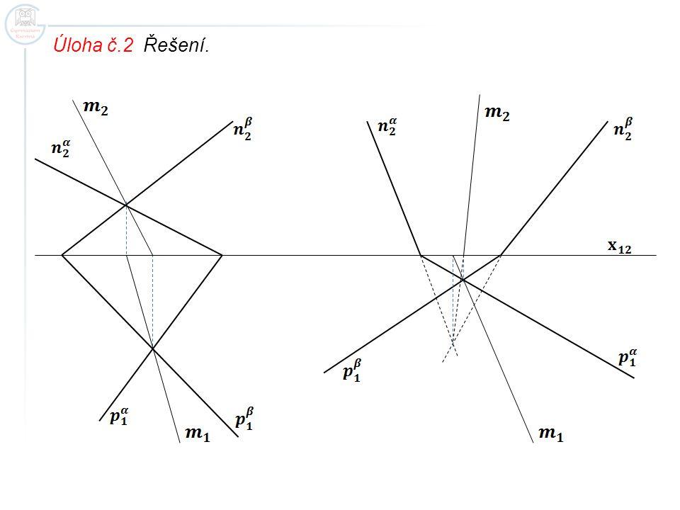Úloha č.3 Určete průsečnici rovin.
