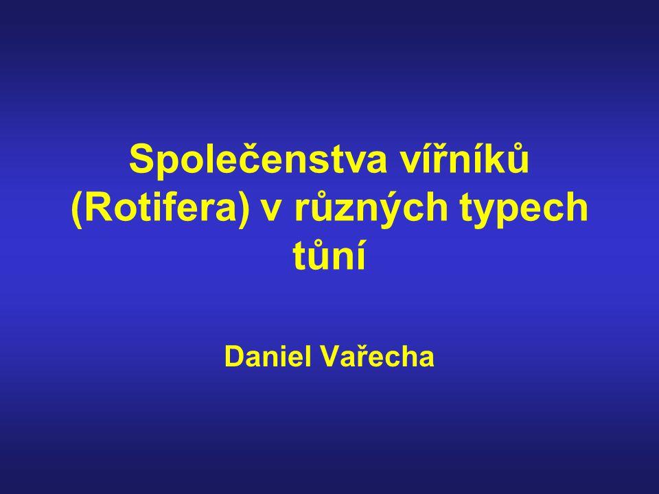 Společenstva vířníků (Rotifera) v různých typech tůní Daniel Vařecha