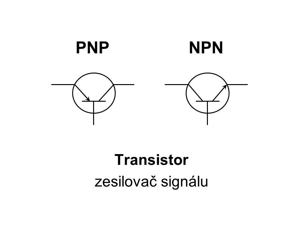 PNP Transistor zesilovač signálu NPN