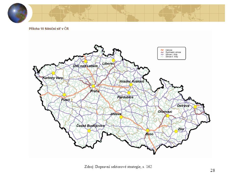28 Zdroj: Dopravní sektorové strategie, s. 162