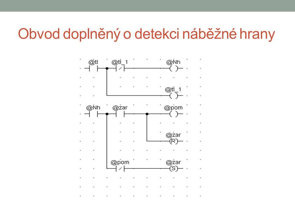 Sestupná hrana (Sh) - detekce tl -1 tlSh 000 010 101 110 Po provedení detekce, se současný stav tl stává stavem předchozím
