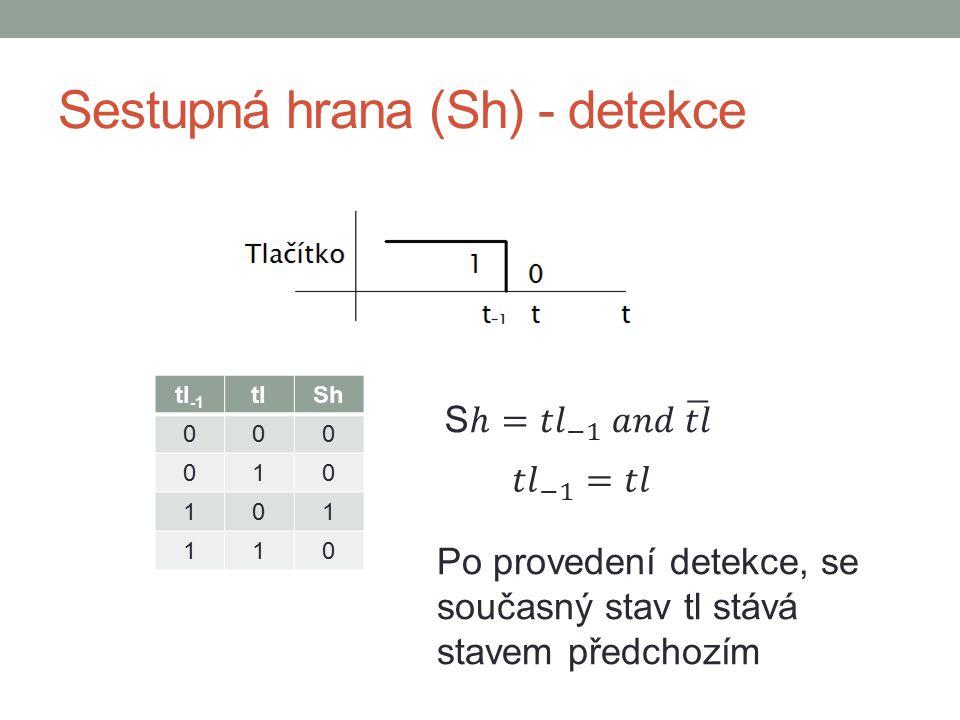 Detekce hran v DetStudiu Modul BinDif sleduje 16 signálů vstupní proměnné Input stav je detekován v proměnné Output Rising – vzestupná hrana Failing – sestupná hrana Nastavení detekce hrany – true Např.: Vyhodnocujeme náběžnou hranu 0 bitu proměnné in, při existenci hrany se do 0 bitu proměnné pom zapíše log.