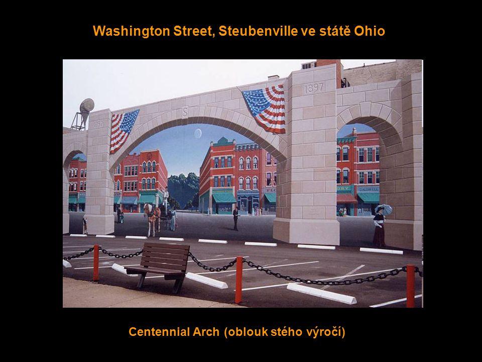N. Fourth Street, Steubenville ve státě Ohio Pocta ocelářskému průmyslu