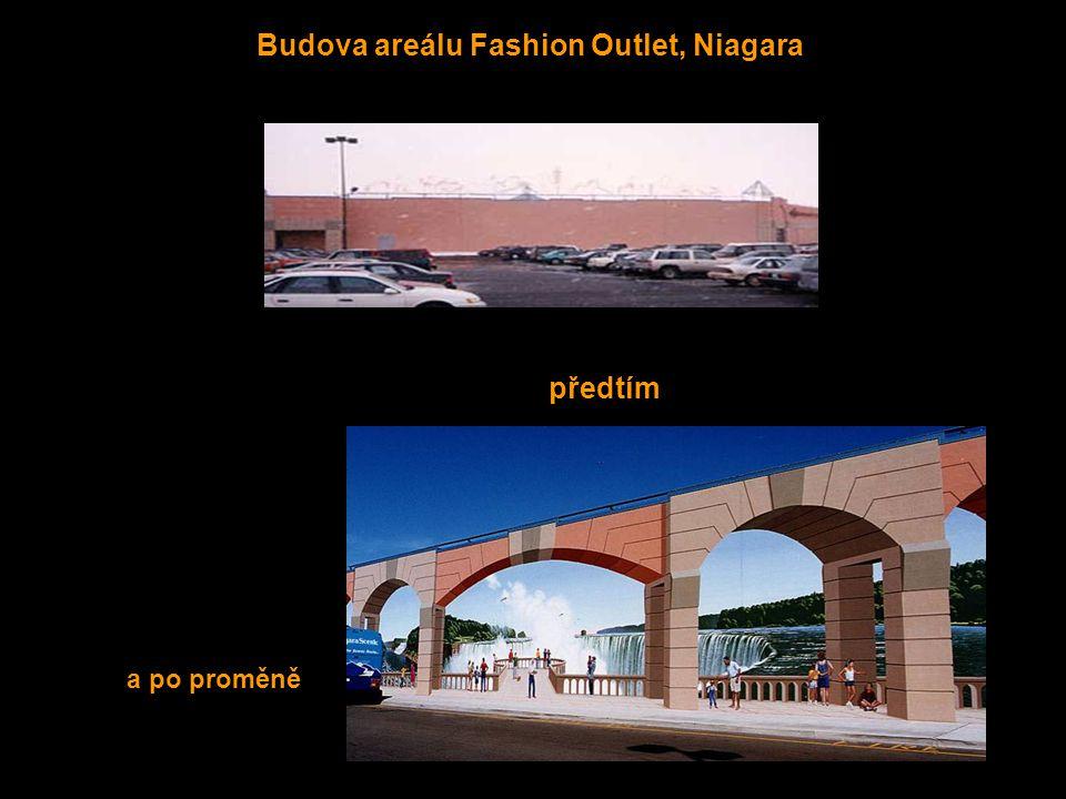 Budova areálu Fashion Outlet, Niagara předtím a po proměně