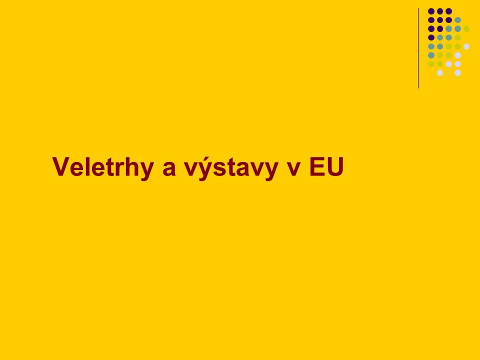 Veletrhy a výstavy v EU
