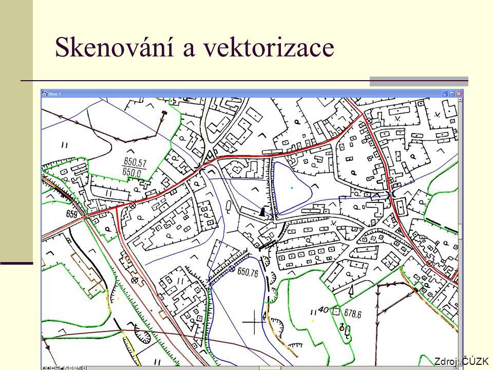 Skenování a vektorizace Zdroj: ČÚZK