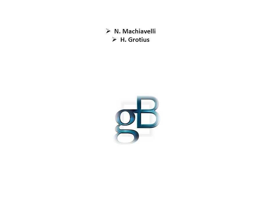  N. Machiavelli  H. Grotius