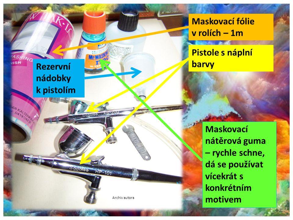 ©c.zuk Archiv autora Maskovací fólie v rolích – 1m Pistole s náplní barvy Maskovací nátěrová guma – rychle schne, dá se používat vícekrát s konkrétním